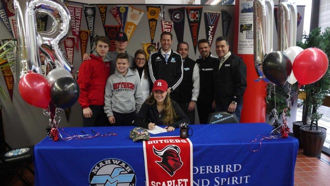 Hayley Baer of Mahwah commits to play soccer for Rutgers.
