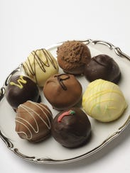 Various fine chocolates and truffles.