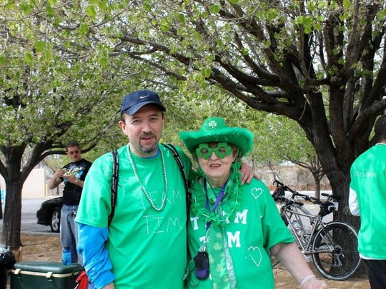 Tim Peterson and his mother, Kennye Decker, stand for a photo at the 2013 Free to Breathe event in Albuquerque. The organization raises money for lung cancer research. Peterson died from the disease in 2015.