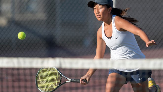 Redwood High senior Claire Yang has occupied the No. 1 spot on the Rangers' singles ladder since her freshman season.