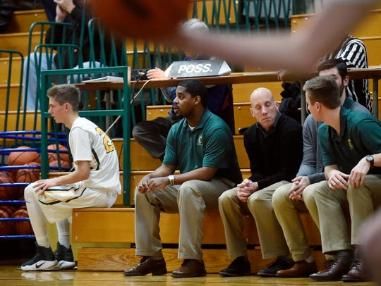 York Catholic head basketball coach Blaine Claiborne,