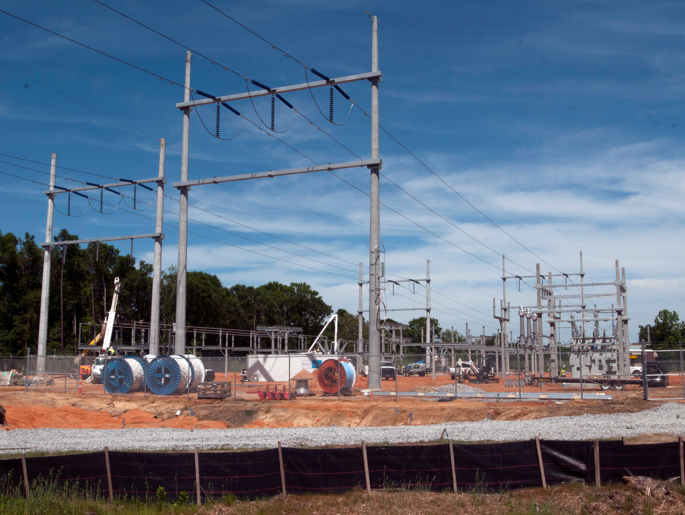 Contractors are building a new substation for Gulf