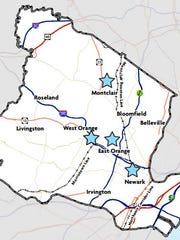 A map details the Essex County municipalities to benefit