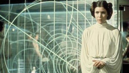 Carrie Fisher as Princess Leia in 'Star Wars Episode IV: A New Hope' -- the franchise's original film, released in 1977.