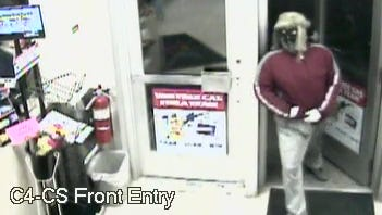 Survellience footage of the suspect in Wednesday night's armed robbery at the SuperAmerica on Fourteenth Avenue Northeast.
