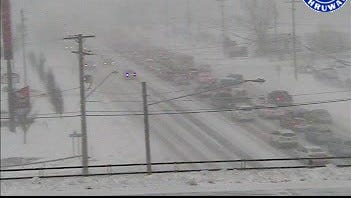 An image taken from the a New York State Thruway Authority camera at the Clarence exit.