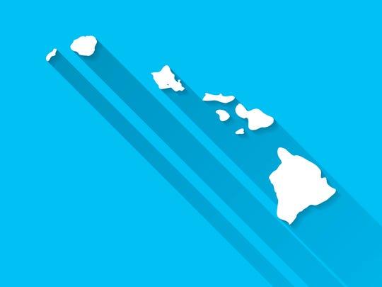 Map of Hawaii.