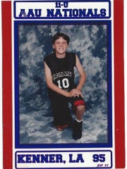 Katie Gearlds at 10 yrs. old in an AAU Basketball National Tournament.