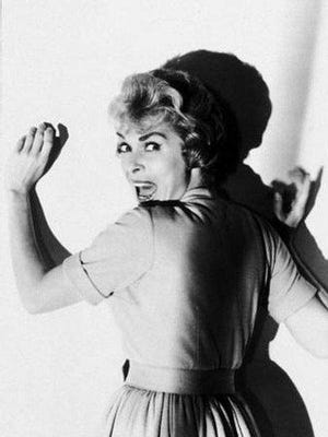 """Janet Leigh as Marion Crane in a promotional still for the 1960 movie """"Psycho."""" She took a fatal shower 50 minutes into the film."""