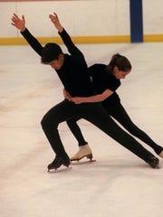 Figure skaters Arnold Myint and Christina Connally