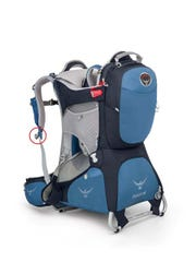 A recall involves the Poco AG, Poco AG Plus and Poco AG Premium model child backpack carriers from Osprey.