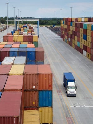 BMW, Michelin, Eastman Chemical, Adidas and Dollar Tree are among customers of Inland Port Greer, above. Officials say they are already in talks with potential customers of a new Inland Port Dillon.
