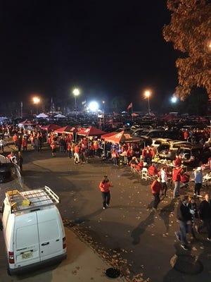 Rutgers fans tailgate at Penn State game Nov. 19, 2016