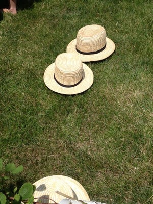 """Don't eat these real Amish """"straw hats,"""" but you can eat the candy version!"""