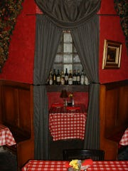 The Blue Room at Naples Italian Restaurant adds a special touch to a romantic dinner.