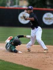 Monroe shortstop Nick Payero forced Nick Loffredo out