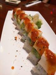 Izziban's spicy fire tuna roll.