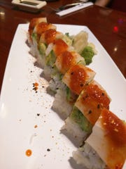 Izziban's spicy fire tuna roll.
