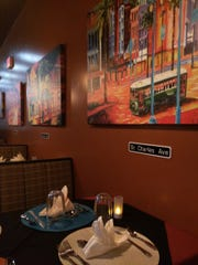 Each booth inside Cajun Cove colorfully features a