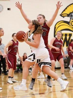 Waupun's Kelli Bonack attempts a shot against Mayville on Tuesday.