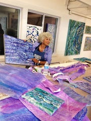 Paula Brody will offer a lesson in her colorful expressionist banded work.