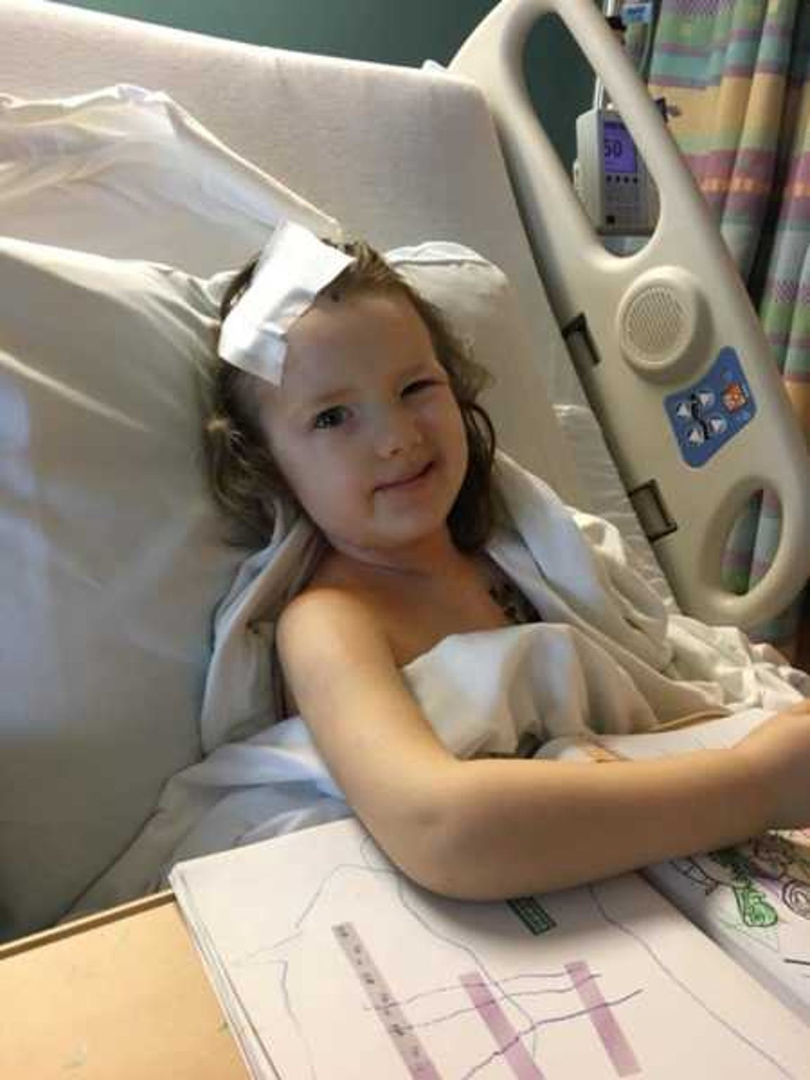 Addy continues to smile through the demon that is cancer.