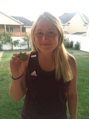 Hays High's Morgan Shorb won first place at No. 2 singles in the HHS Invitational on Thursday.