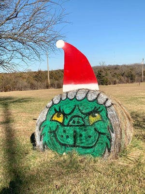 Did the Grinch steal this hay bale? No, but Christie Appelhanz thought it would make for a great holiday decoration in her front yard of her home in northwest Shawnee County. The hay bale has been decorated countless times this year.