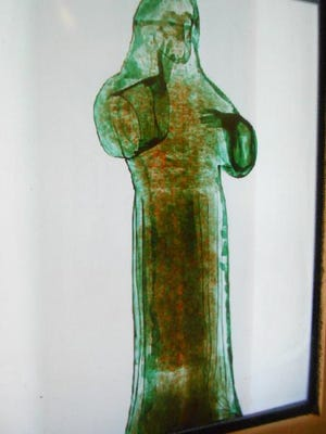 Federal authorities drilled into the religious statue after x-ray imagery revealed suspicious content.