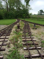 Railroad track being donated to Green Bay is shown on the family property of donor Paul Woelbing.