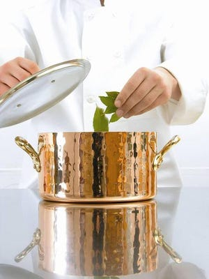 The beautiful copper pots and pans of Mauviel always catch cooks' eyes, but the company also offers equally beautiful stainless steel pots and pans.