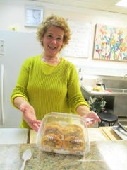 Rena Gianakopoulus owns Rena's Pies & Specialties at Booth's Corner Farmers Market near Boothwyn, Pa. She sells homemade Greek pies and desserts.