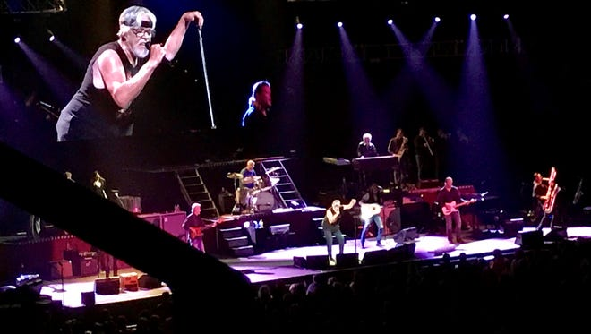 Bob Seger performs Wednesday night at the Resch Center during the third stop on his Runaway Train Tour.