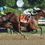 Travers winning trainer Dale Romans and Donegal Racing founder Jerry Crawford met with the media Sunday in Saratoga's winner's circle discuss Keen Ice's victory over American Pharoah.