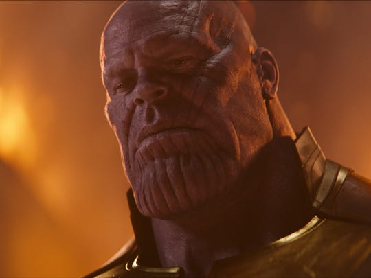 """Thanos (Josh Brolin) comes to Earth looking for Infinity Stones —and a fight —in """"Avengers: Infinity War."""""""