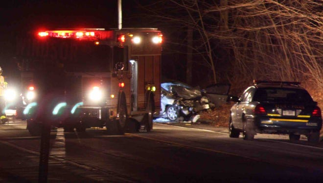 The two-car accident killed one person before the Friday evening began, state police said.