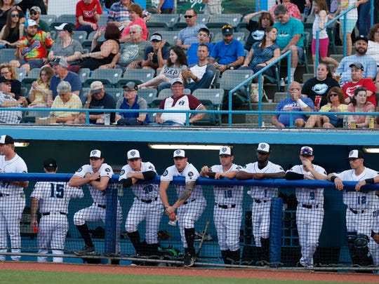 The Hudson Valley Renegades during Thursday's home