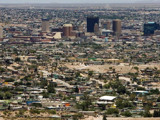View of El Paso (back) in the state of T