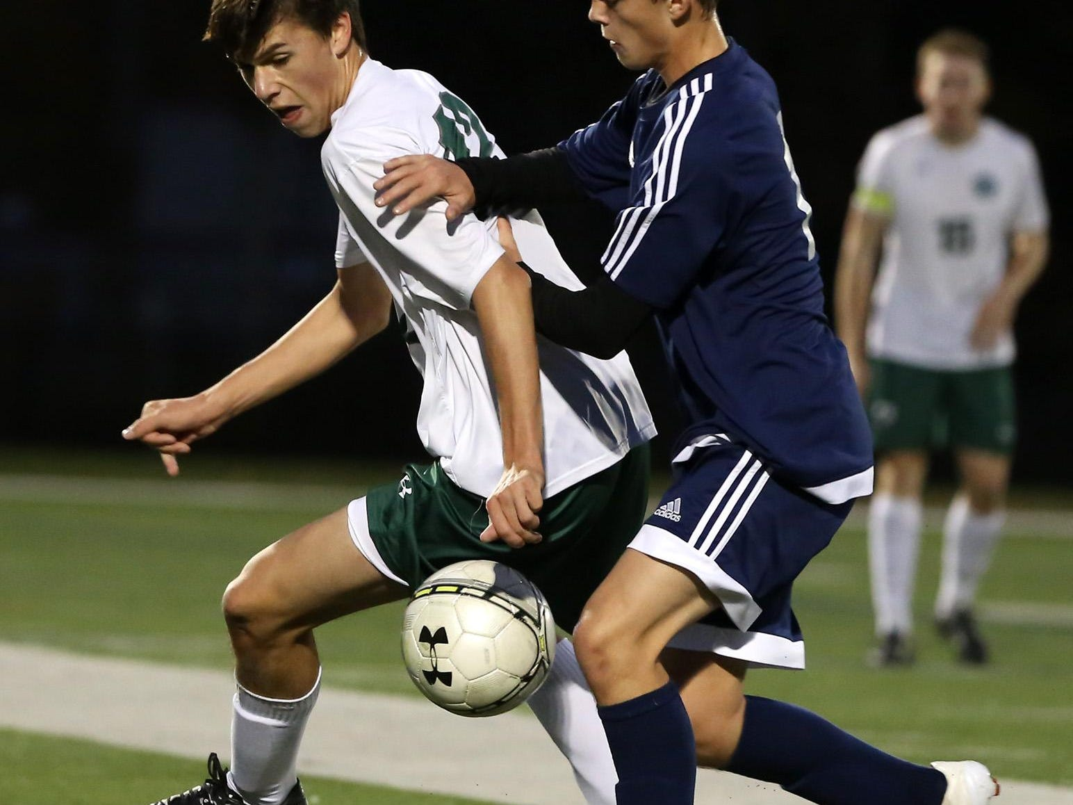 Morris County Tournament boys soccer final, Randolph vs. Delbarton, played at Roxbury High School, Roxbury, NJ. Friday, Oct. 24, 2015. Special to NJ Press Media/Karen Mancinelli/Daily Record MOr 1025 BS MCT final