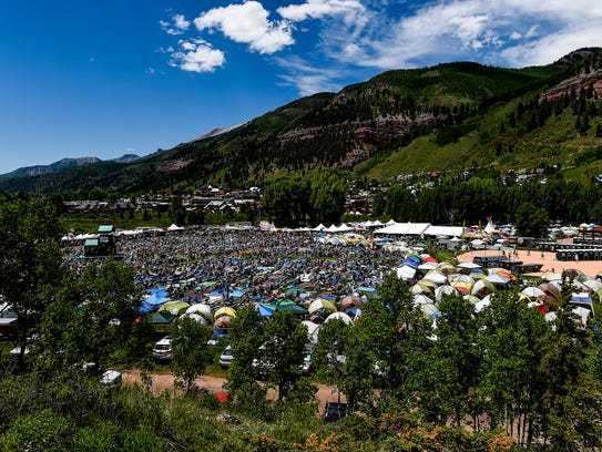 Festival attendees pack the field at the 42nd annual
