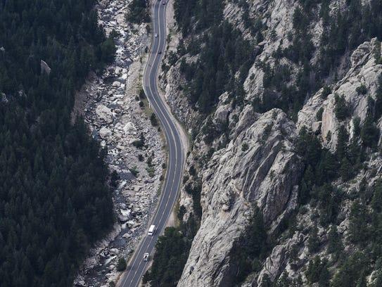 The Big Thompson Canyon between Loveland and Estes