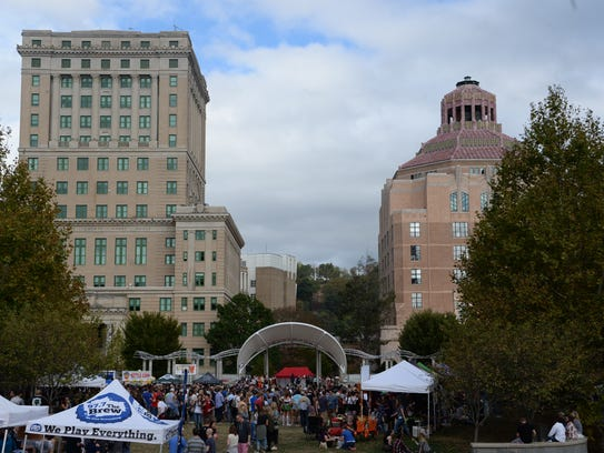 Scenes from Oktoberfest in Pack Square Park October