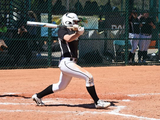 Jessica Rutherford's career batting average is near