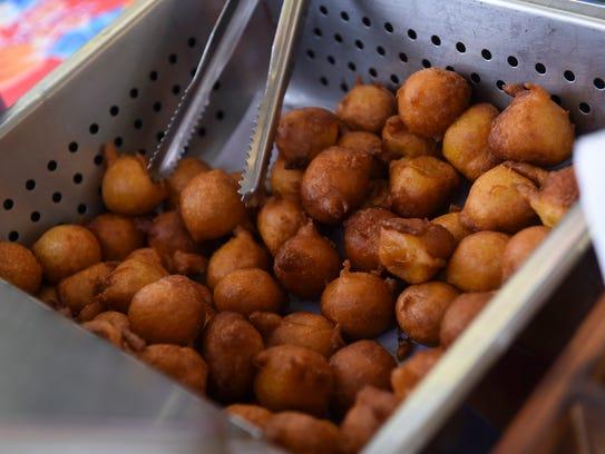 Mango donuts prepared during the 12th annual Agat Mango