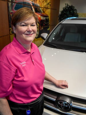 Millie Marshall, the new plant manager of the Princeton, Indiana, Toyota plant in the facilities visitor center Wednesday, May 24, 2017.