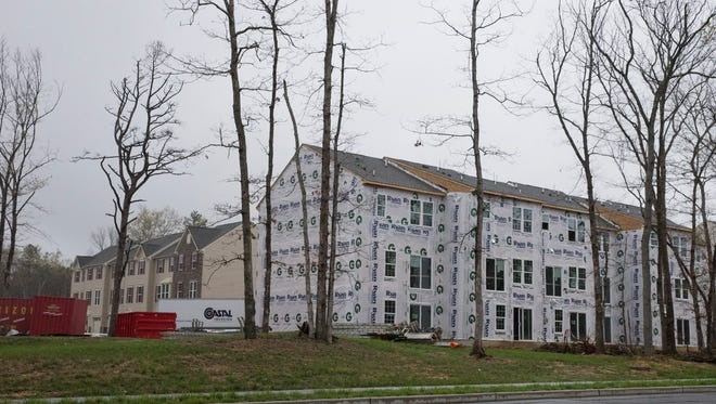 Partially built Riverwood Chase in the North Dover section of Toms River on April 4, 2016