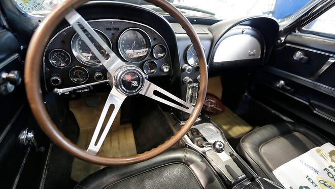 The interior of a 1967 Corvette Sting Ray awarded to Bart Starr which is now on display at The Automobile Gallery Tuesday, June 14, 2018 in Green Bay, Wis.
