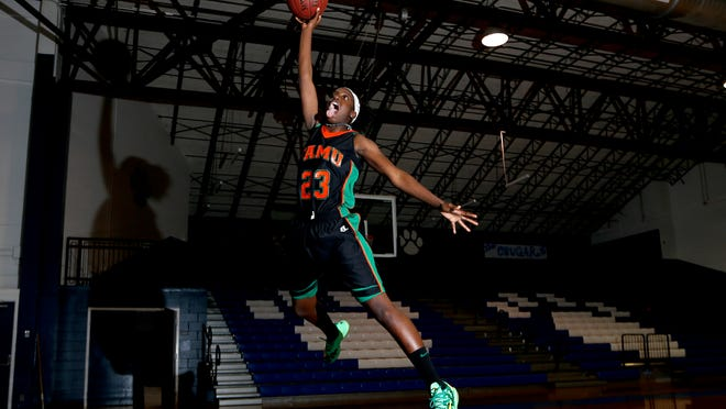 FAMU DRS guard Jazmine Jones averaged 18 points, eight rebounds, four assists and three steals per game to help lead the Rattlers to the Class 2A state title.