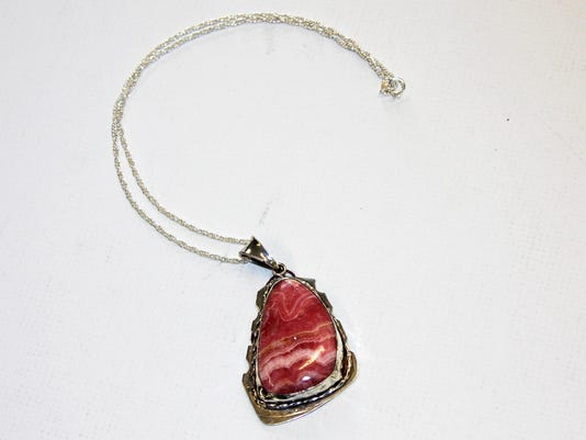 Angel Soto-Pink Agate Necklace-Jewelry
