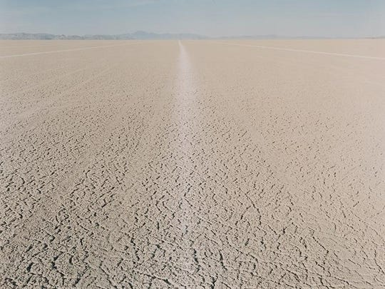 Tracks from land speed record set in 1997.